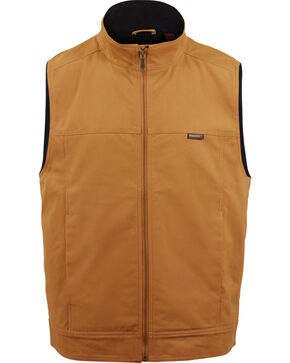 Wolverine Men's Brown Caleb Canvas Vest , Brown, hi-res