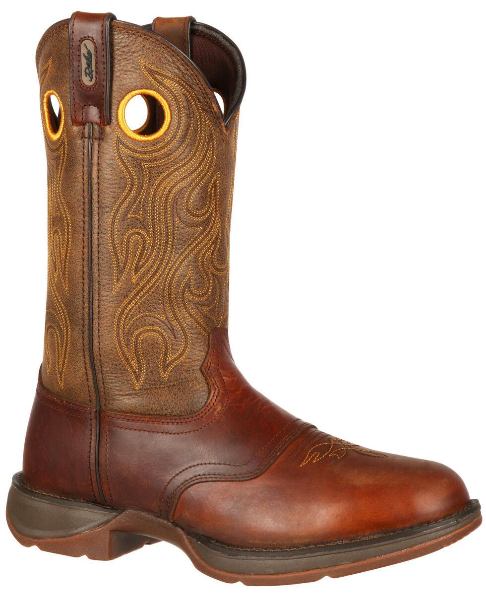 Durango Rebel Men's Brown Saddle Western Boots - Round Toe, Brown, hi-res