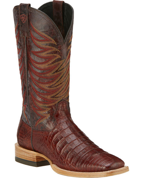 Ariat Fire Catcher Caiman Cowboy Boots - Square Toe, Cinnamon, hi-res