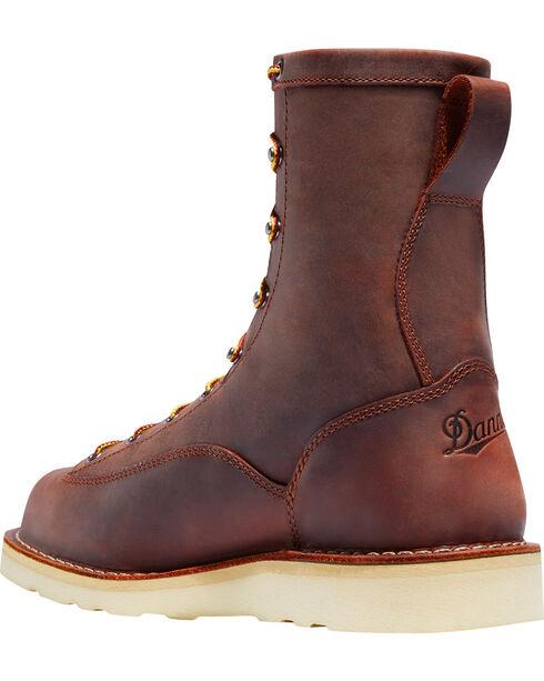 """Danner Men's Brown Bull Run 8"""" Boots - Round Toe, Brown, hi-res"""