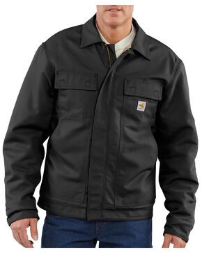 Carhartt Flame-Resistant Lanyard Access Quilt-Lined Jacket - Big & Tall, Black, hi-res