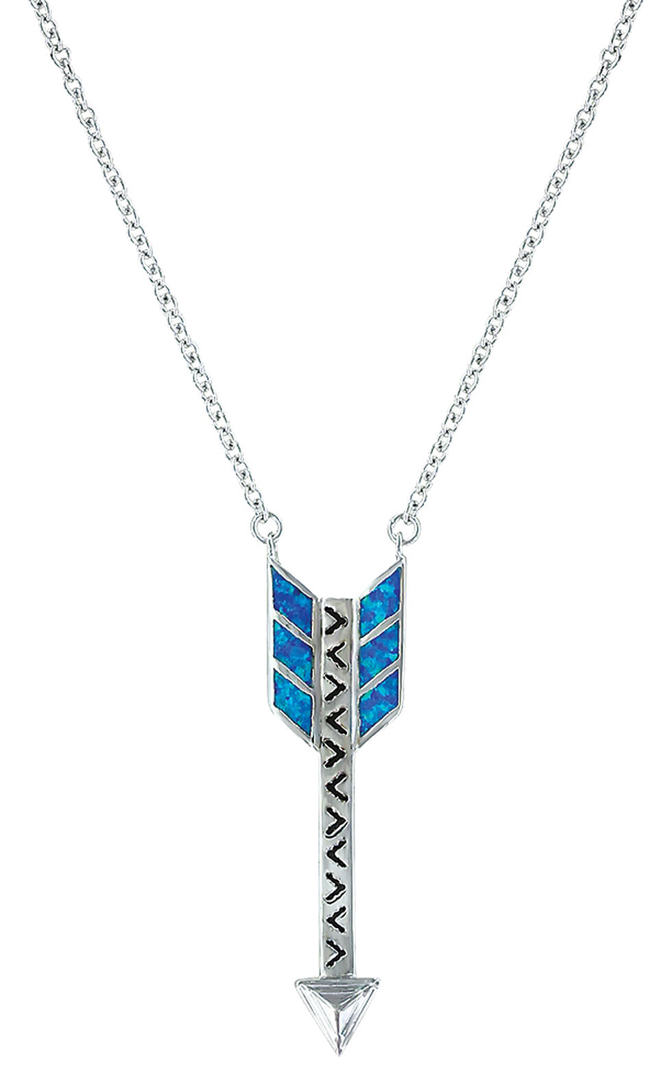 Montana Silversmiths Women's Sky Fletched Arrow  Necklace , Silver, hi-res