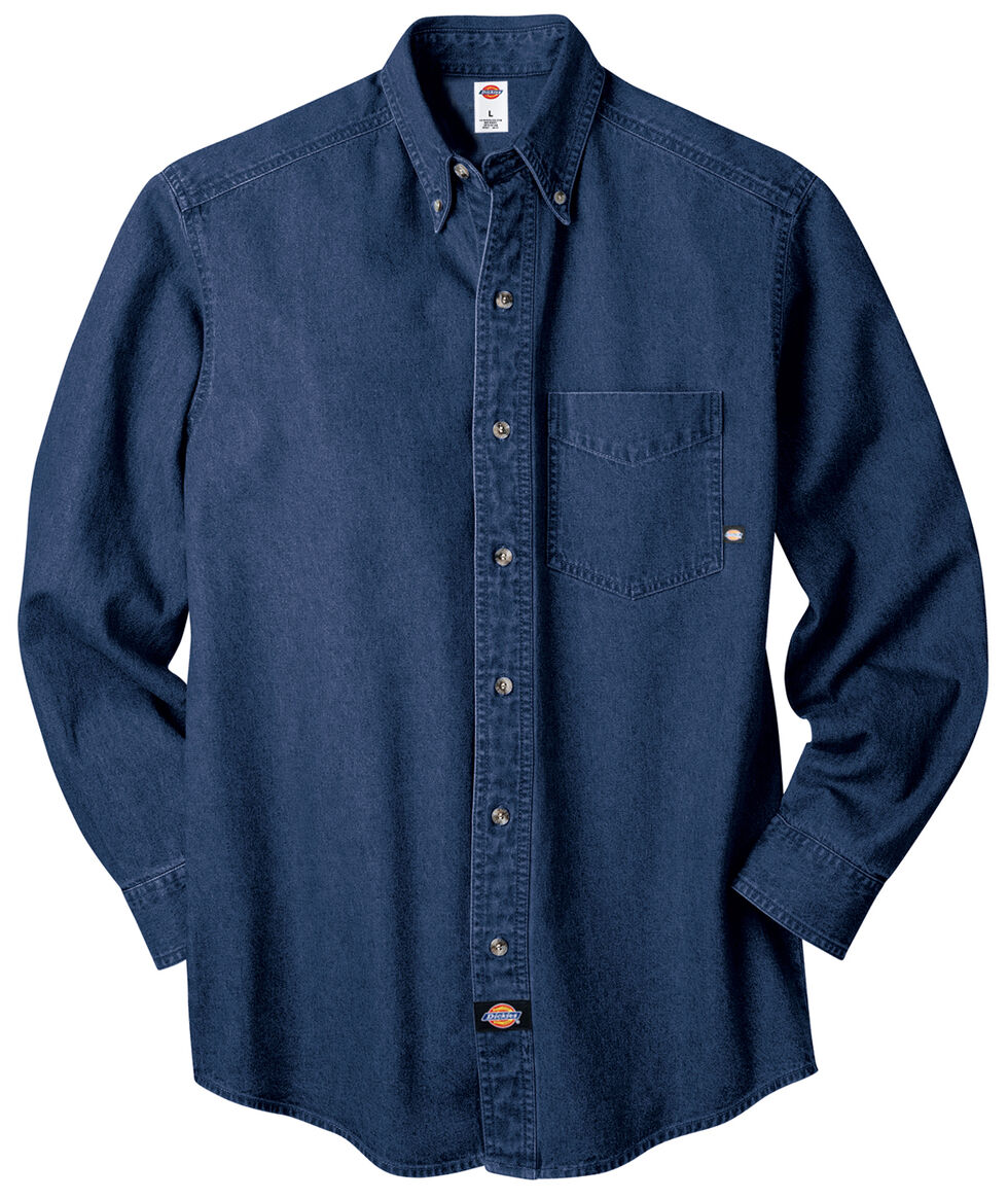 Dickies Denim Work Shirt - Big & Tall, Rinsed, hi-res