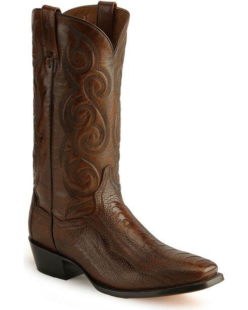 Dan Post Ostrich Leg Cowboy Boots - Square Toe, , hi-res