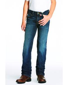 Ariat Boys' B5 Durham Slim Straight Jeans , Indigo, hi-res
