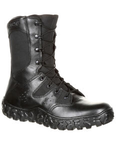 Rocky Men's Predator Duty Boots - Round Toe, Black, hi-res
