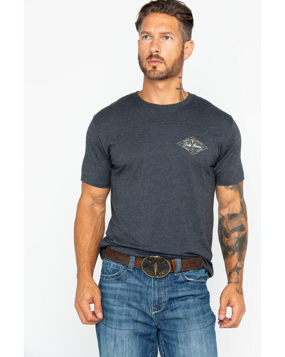 Cody James Men's Western Diamond Screen Print T-Shirt, Charcoal, hi-res