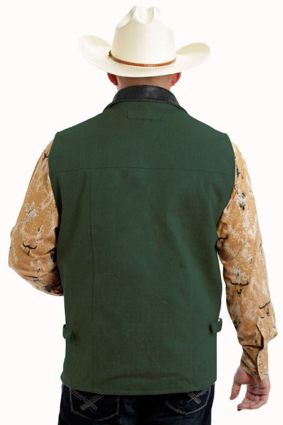 Colorado Saddlery Green Conceal Carry Vest, Green, hi-res