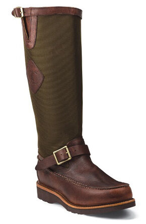 Chippewa Back Zipper Pull-On Snake Boots - Mocc Toe, Mahogany, hi-res