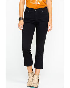 Levi's Women's Mile High Play Harder High Rise Crop Flare Jeans, Black, hi-res