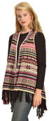 R Cinco Ranch Women's Allie Aztec Draped Fringe Vest, Print, hi-res