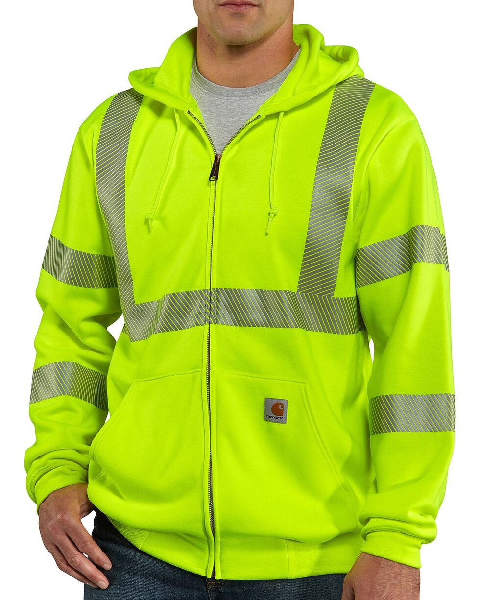 Carhartt High-Visibilty Zip-Front Class 3 Jacket - Big & Tall, Lime, hi-res