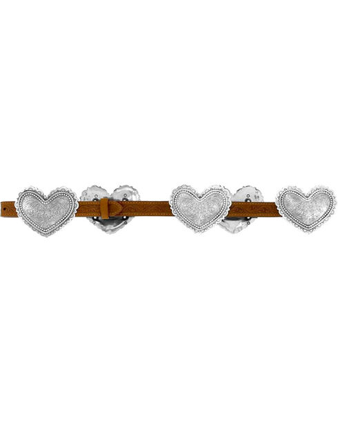 Justin Women's Hearts of the West Belt, Brown, hi-res