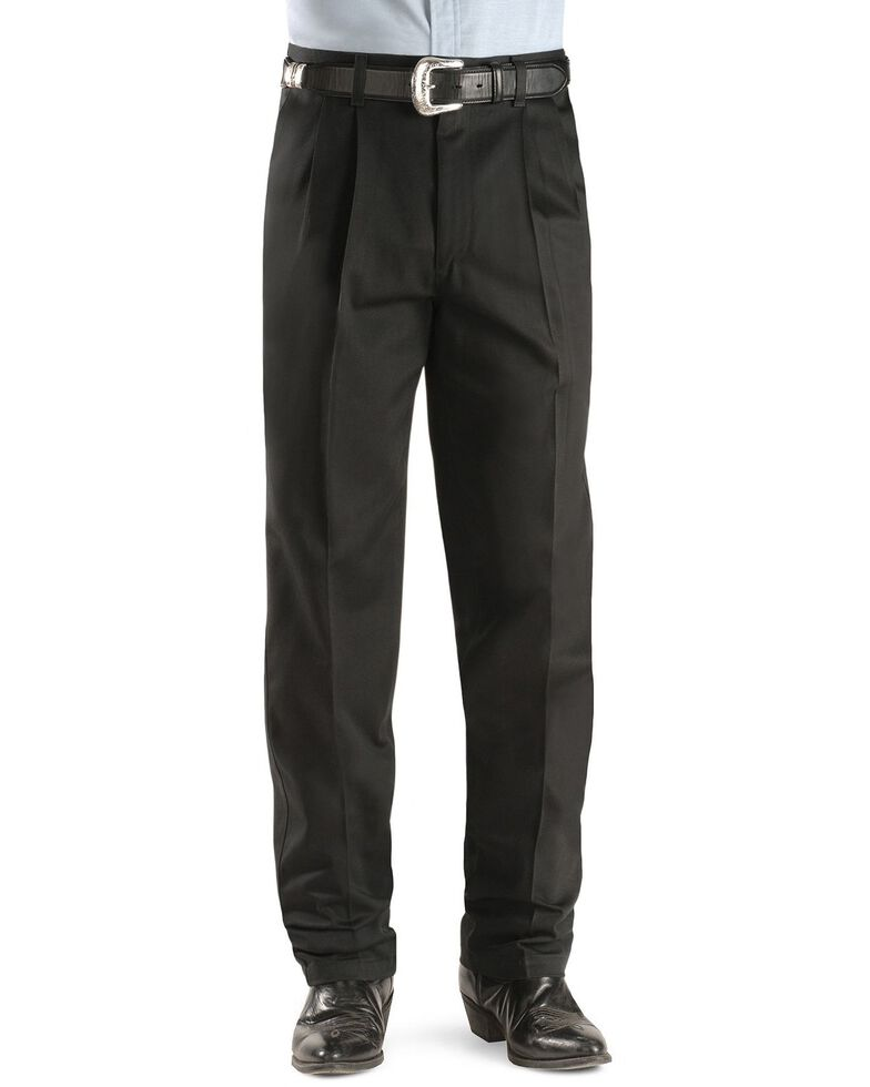 Wrangler Riata Teflon Treated Slacks, Black, hi-res