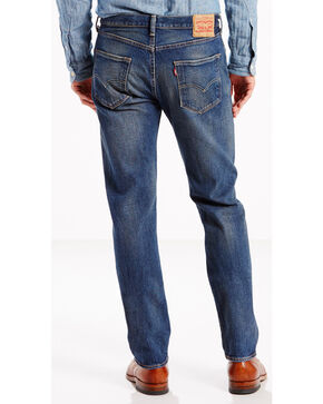 Levi's Men's 501 Original Fit Stretch Jeans, Indigo, hi-res