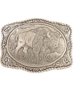 Crumrine Vintage Men's Buffalo Belt Buckle, Silver, hi-res
