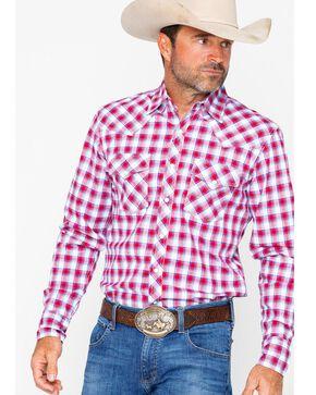Wrangler 20x Men's Plaid Competition Advanced Comfort Shirt, Burgundy, hi-res