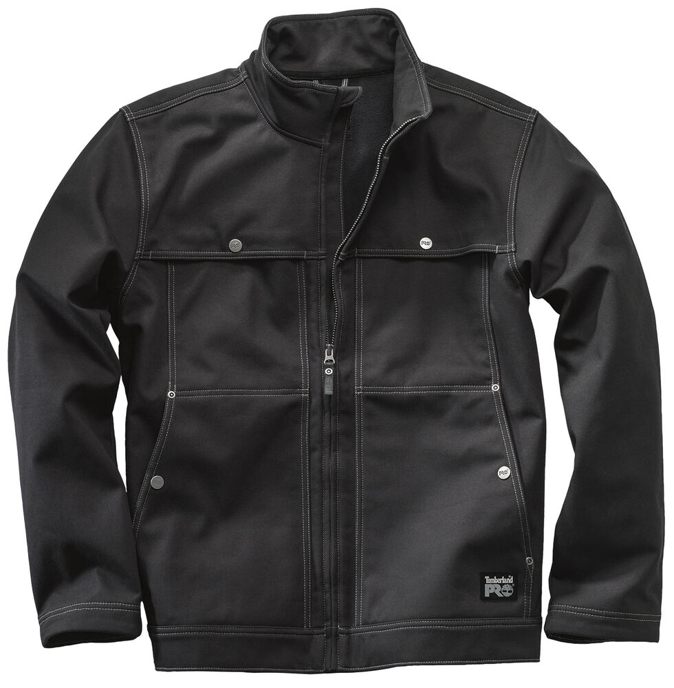 Timberland Pro Men's Stud-Lee Canvas Windproof Jacket, Black, hi-res