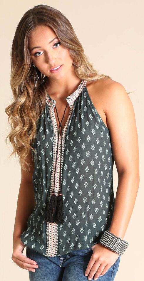 Wrangler Women's Sleeveless Top with Tie, Dark Grey, hi-res