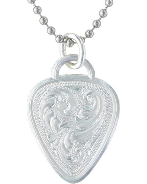 Montana Silversmiths Western Guitar Pick Necklace, Silver, hi-res