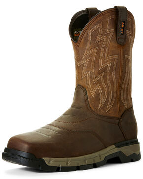 Ariat Men's Rebar Flex Western Work Boots - Wide Square Toe, Brown, hi-res