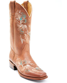Shyanne Women's Neve Western Boots - Square Toe, Brown, hi-res