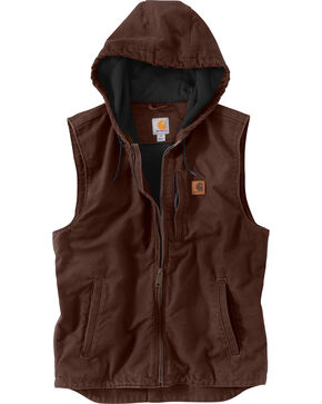 Carhartt Men's Dark Brown Knoxville Vest, Dark Brown, hi-res