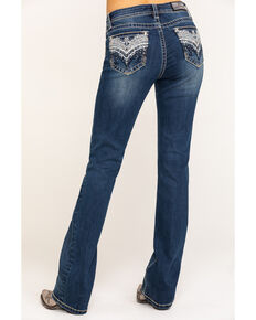 "Grace in LA Women's Medium Chandelier 32"" Bootcut Jeans , Blue, hi-res"