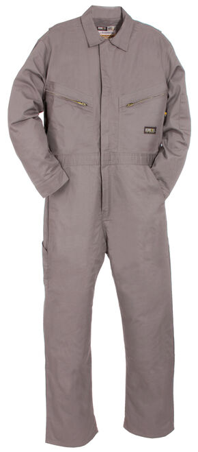 Berne Flame Resistant Deluxe Coveralls - Tall (42X - 54X), Grey, hi-res