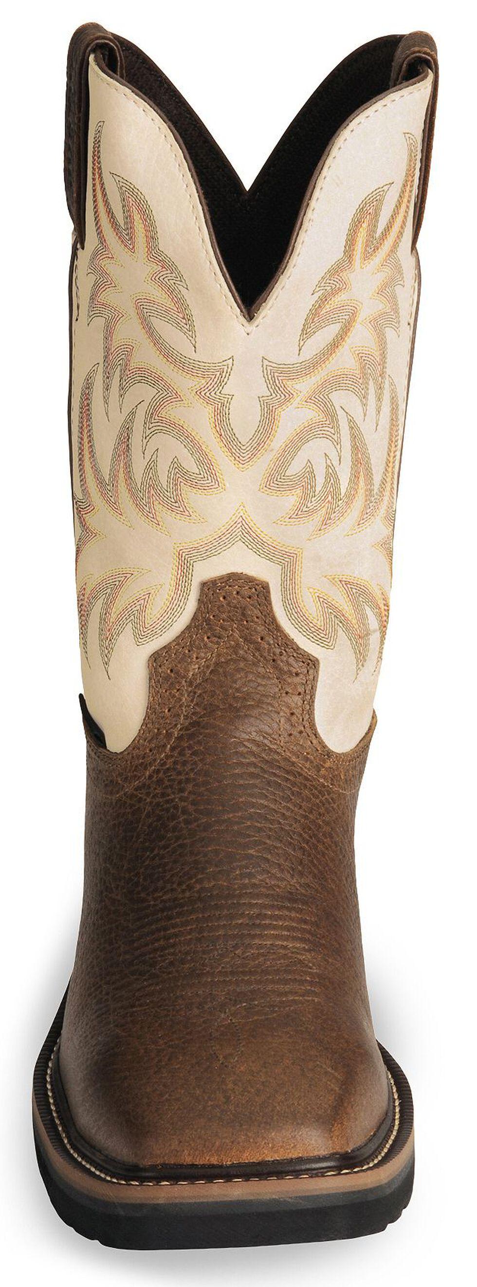 Justin Men's Stampede Driller Copper Electrical Hazard Work Boots - Steel Toe, Copper, hi-res