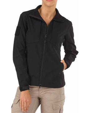 5.11 Tactical Women's Sierra Softshell Jacket, Black, hi-res