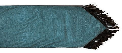 HiEnd Accents Turquoise Tooled Faux Leather Table Runner, Turquoise, Hi Res