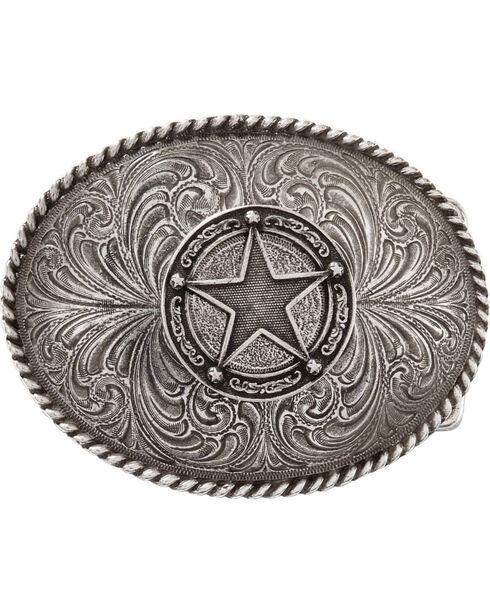 Montana Silversmiths Star Badge Buckle, Silver, hi-res