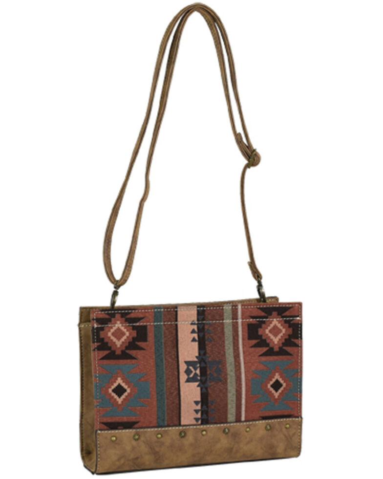 Justin Women's Aztec Jacquard Shoulder Bag, Brown, hi-res