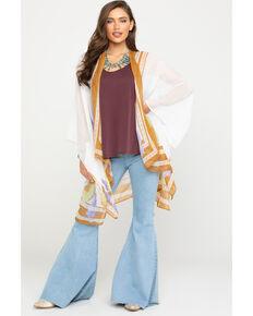 Shyanne Women's Multi Feather Shawl, Multi, hi-res