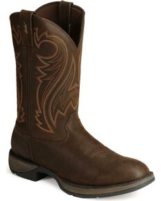 Durango Rebel Men's Chocolate Pull-On Western Boots - Round Toe, Chocolate, hi-res