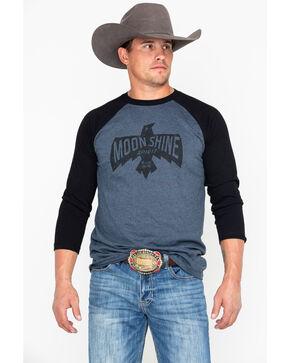 Moonshine Spirit Men's Flying High Eagle Graphic Raglan Long Sleeve Shirt , Black, hi-res