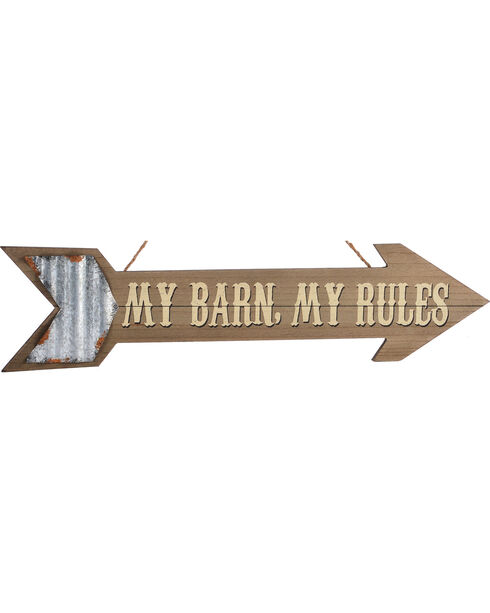 Giftcraft My Farm, My Rules Arrow Wall Sign , No Color, hi-res