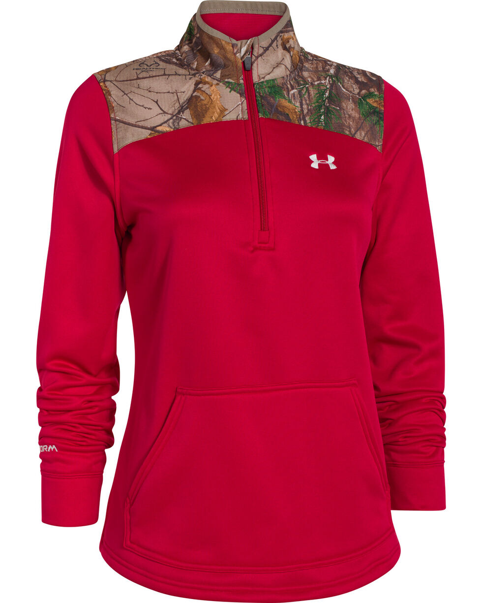 Under Armour Women's Caliber 1/2-Zip Pullover, Berry, hi-res