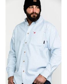 Ariat Men's White FR Solid Durastretch Long Sleeve Work Shirt  , White, hi-res