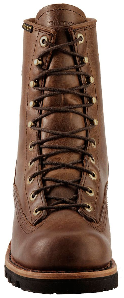 "Chippewa Lace-Up Waterproof 8"" Logger Boots - Steel Toe, Bay Apache, hi-res"