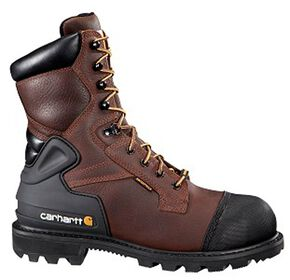 "Carhartt 8"" Brown CSA Work Boot - Safety Toe, Brown, hi-res"