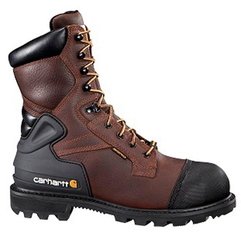 """Carhartt 8"""" Brown CSA Work Boot - Composite Toe, Brown, hi-res"""