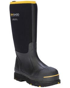 Dryshod Men's Waterproof Work Boots - Steel Toe, Black, hi-res