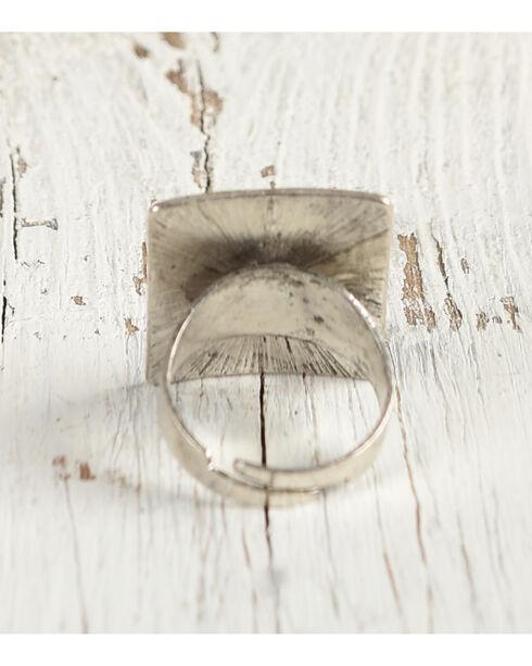 Shyanne Women's Aztec Rectangular Ring, Silver, hi-res
