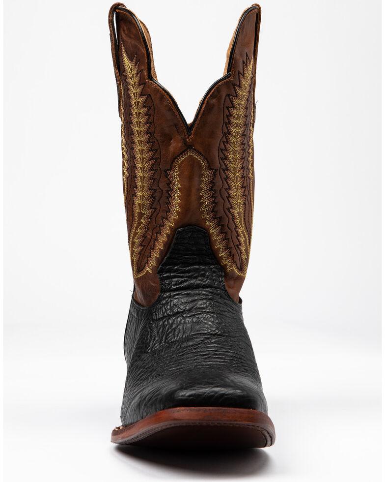 Cody James Men's Buck Western Boots - Wide Square Toe, Black/brown, hi-res