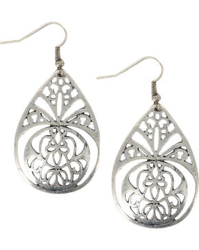 Shyanne Women's Filigree Teardrop Earrings, Silver, hi-res