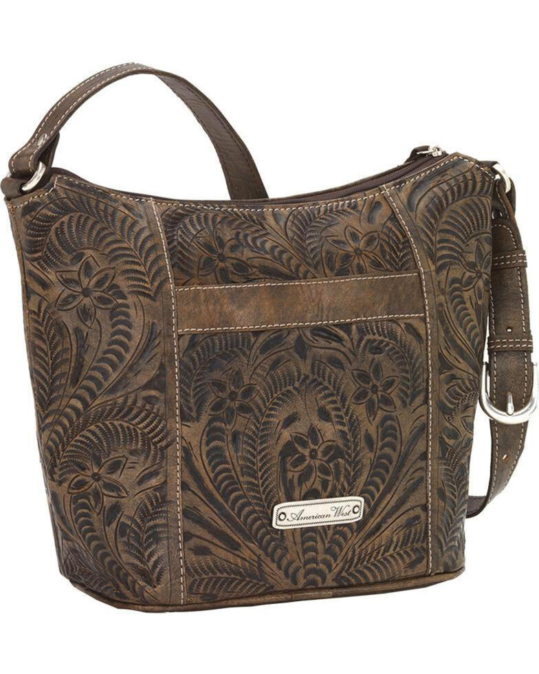 American West Women's Hill Country Tote Bag , Distressed Brown, hi-res