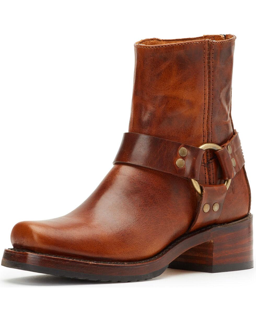 Frye Women's Cognac Heirloom Harness Back Zip Boots - Square Toe , Cognac, hi-res