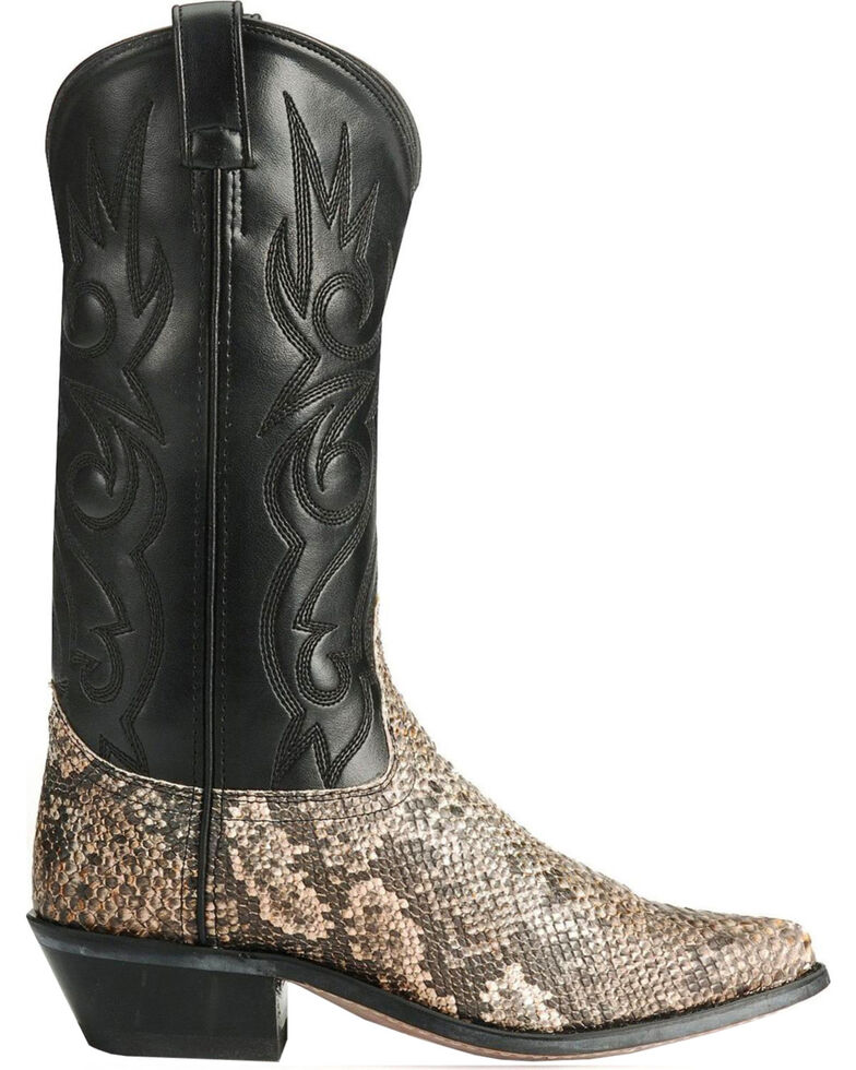 Old West Snake Printed Cowboy Boots - Pointed Toe, Natural, hi-res